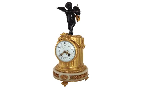 Maple & Co Marble & Gilt Bronze Mantel Clock