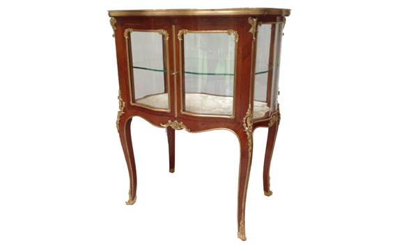 French Rosewood and Gilt Bronze Mounted  Table Vitrine