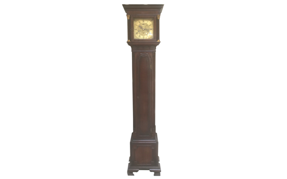 Antique Waring & Gillow Ltd Liverpool Mahogany Small Longcase Clock In Georgian Style