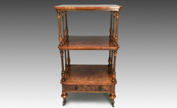 Antique Victorian Gillows Walnut Whatnot
