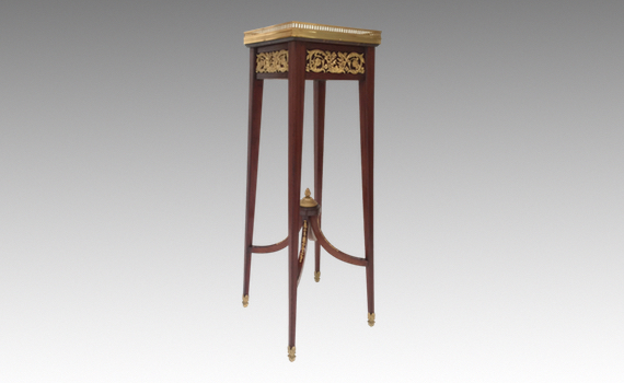 Antique French Gilt Bronze Mounted Stand Attributed to Francois Linke