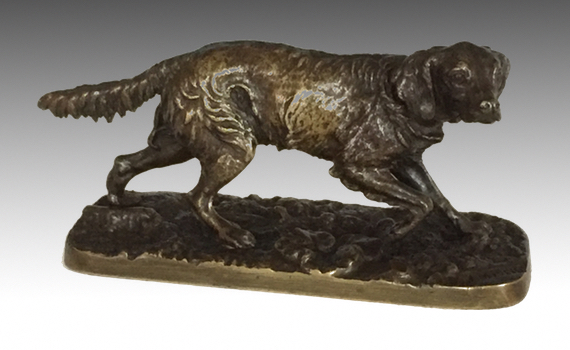 Antique mène Bronze Retriever
