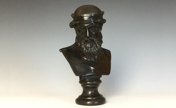 Antique Bronze Bust of Dionysus
