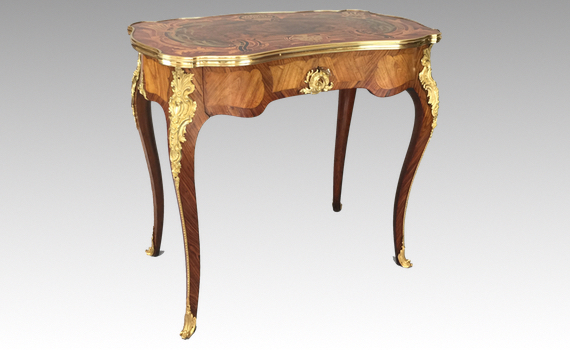 Antique Holland & Sons Marquetry Side Table