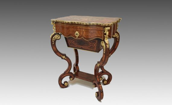 Antique Rosewood Work Table Attributed to Vervelle