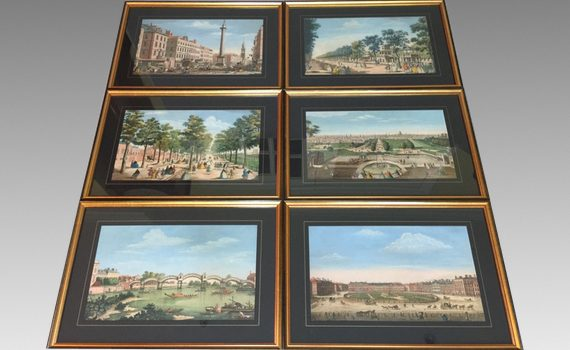 Six Antique 18th Century Hand Coloured Engravings Printed & Sold By Robert Sayer