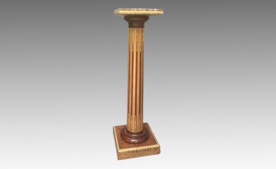 Antique Victorian Satin Maple & Ormolu Mounted Column
