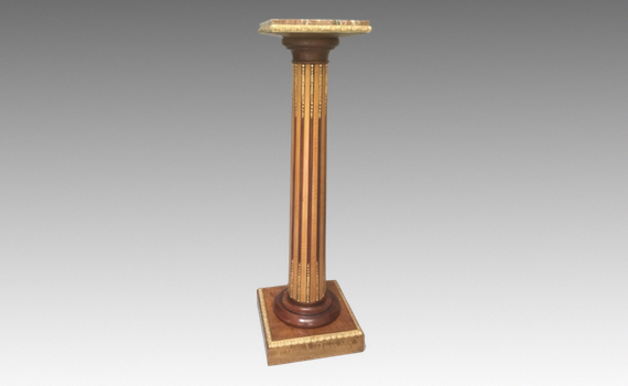 Antique Victorian Satin Maple & Ormolu Mounted Column