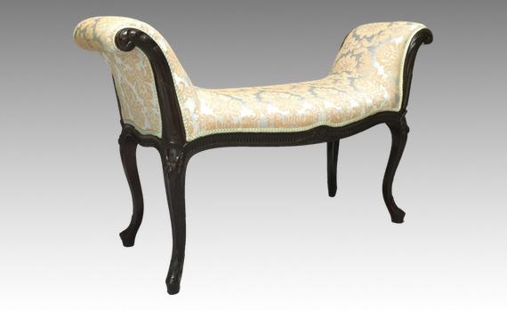 Antique French Hepplewhite Revival Mahogany Window Seat