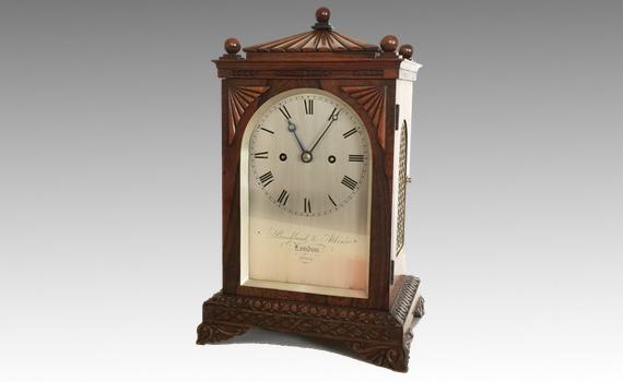 Antique Brockbank & Atkins Rosewood Bracket Clock Numbered 2022