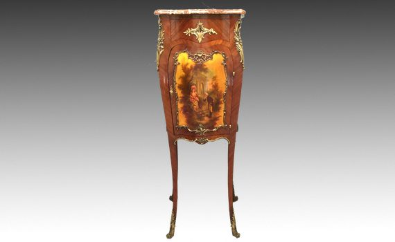Antique rosewood & Ormolu Mounted Side Cabinet with Vernis Martin Panels