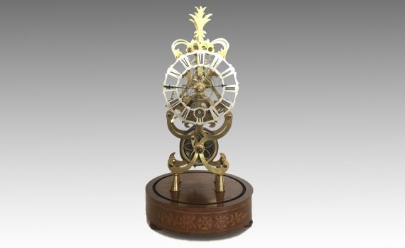 'Acanthus' Month Going Pattern Skeleton Timepiece by Peter Holtby