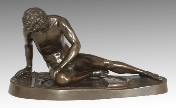 Antique Italian Bronze of the Dying Gaul Cast by Amodio Naples
