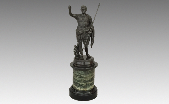 Antique Bronze Figure Caesar Augustus