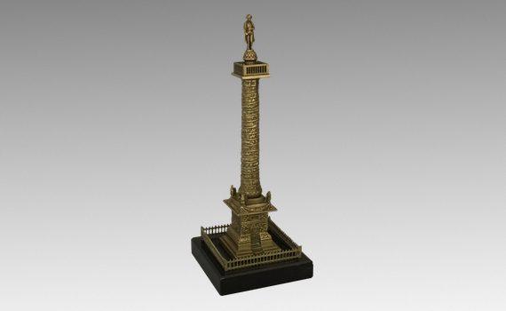 Antique French Bronze Vendôme Column