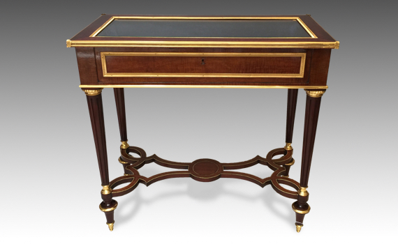 Antique English Table Vitrine in the Louis XVI Style