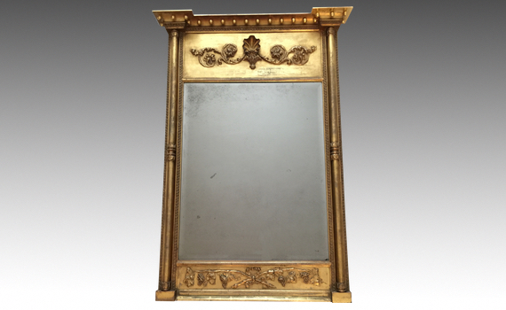 Antique George IV Giltwood Pier Mirror by John Zenone