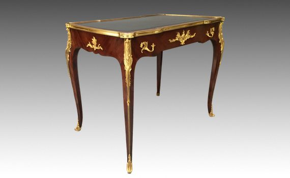 Antique French Bureau Plat Attributed to François Linke & Retailed By Edwards & Roberts