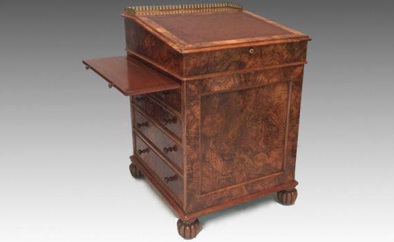 Antique George IV Walnut davenport by Thomas Wilson