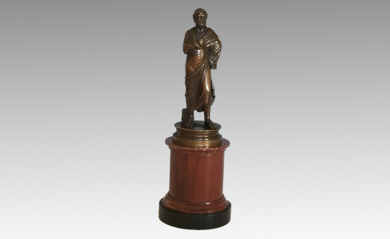 After The Antique 19th Century Small Bronze of Sophocles