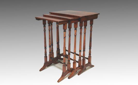 Antique George IV Rosewood Graduated Trio of Tables