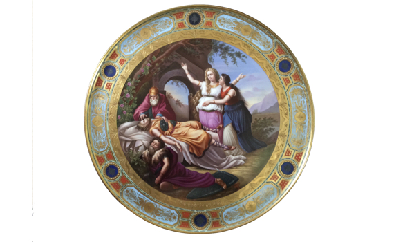 Antique Vienna Style Porcelain Plaque