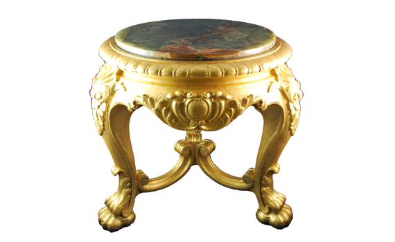 Antique French Napoleon III Giltwood Stand