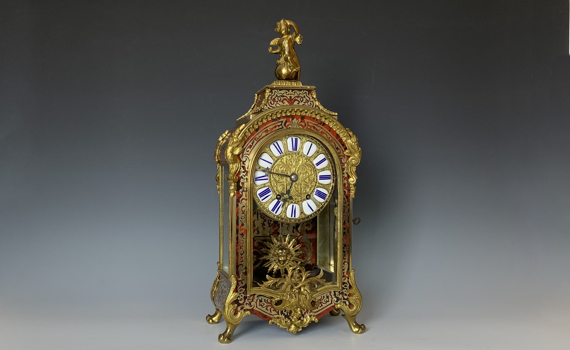 Antique Louis XIV Style Boulle Clock with Japy Fréres Movement