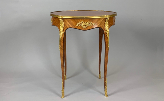 Antique Louis XV Style Tulipwood & Ormolu Mounted Side Table
