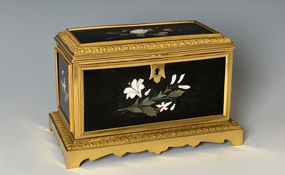 Antique 19th Century Florentine Pietra Dura Scent Casket