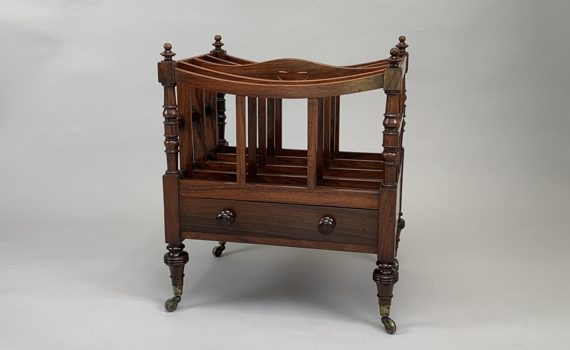 Antique George IV Rosewood Canterbury