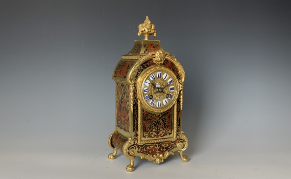 Antique Louis XIV Style Boulle Clock