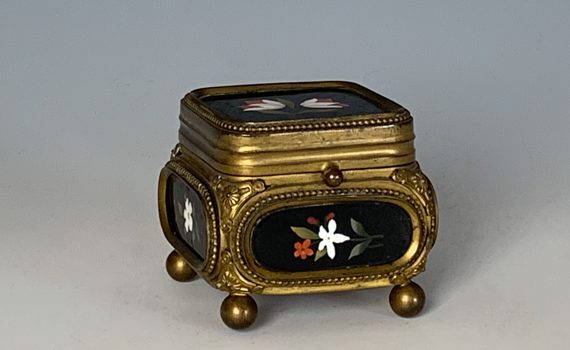 Antique Florentine Pietra Dura Casket of Small Size
