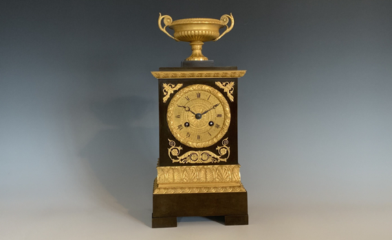 Antique French Empirer Bronze & Ormolu Mantel Clock