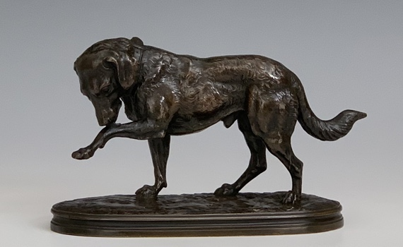 Antique Joseph Victor Chemin Bronze Dog