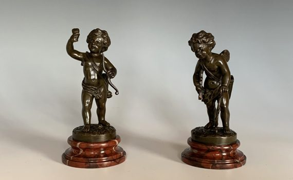 Antique French Small Cupid Bronzes