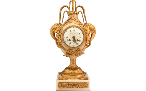 Antique French Mantel Clock by Eugene Hazart after Brecourt