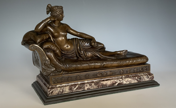Antique 19th Century French Bronze of Paolina Borghese