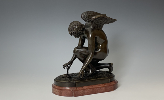 Antique Bronze 'L'Amour au Paillon' after Antoine-Denis-Chaudet