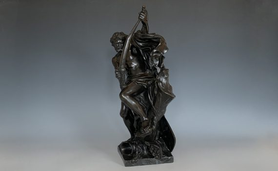Antique French Bronze Ulysses Bending His Bow