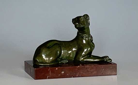 Antique Bronze Dog Paper Weight