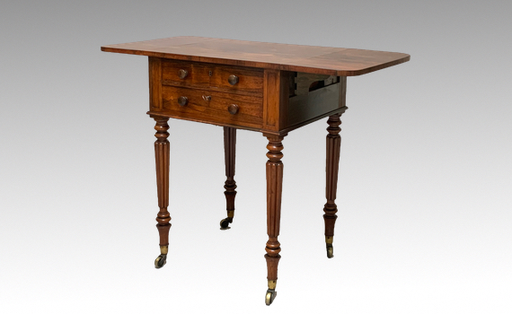 Antique Gillows William IV Rosewood Work Table