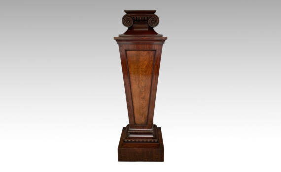 Antique George IV Mahogany Pedestal Column