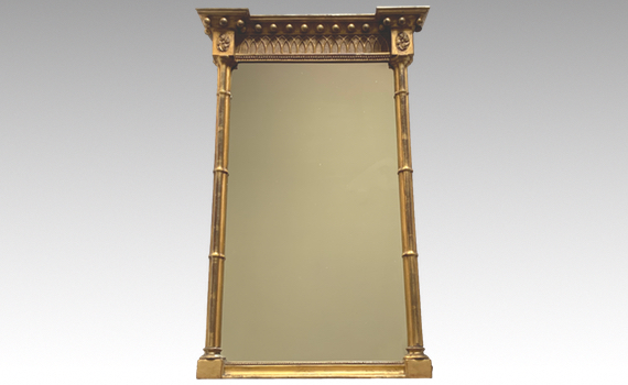 Antique George IV Giltwood Pier Mirror