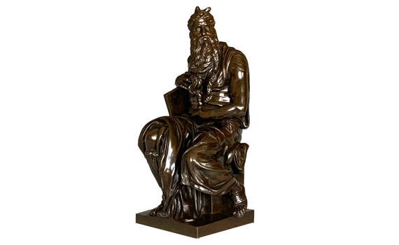 Antique 19th Century Bronze Figure of Moses