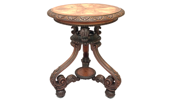 Antique 19th Century Walnut Side Table
