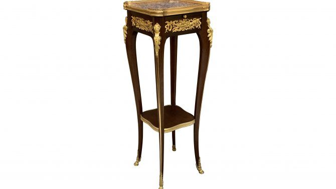 Attributed to Francois Linke Mahogany & Gilt Mounted Stand