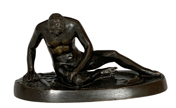 Antique Grand Tour Bronze Dying Gaul
