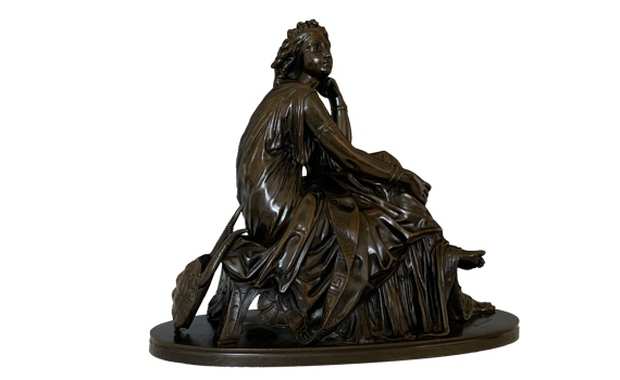 Paul Émile Machault Bronze Figure of Euterpe