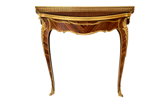 Antique Kingwood & Ormolu Louis XV Style Console Table